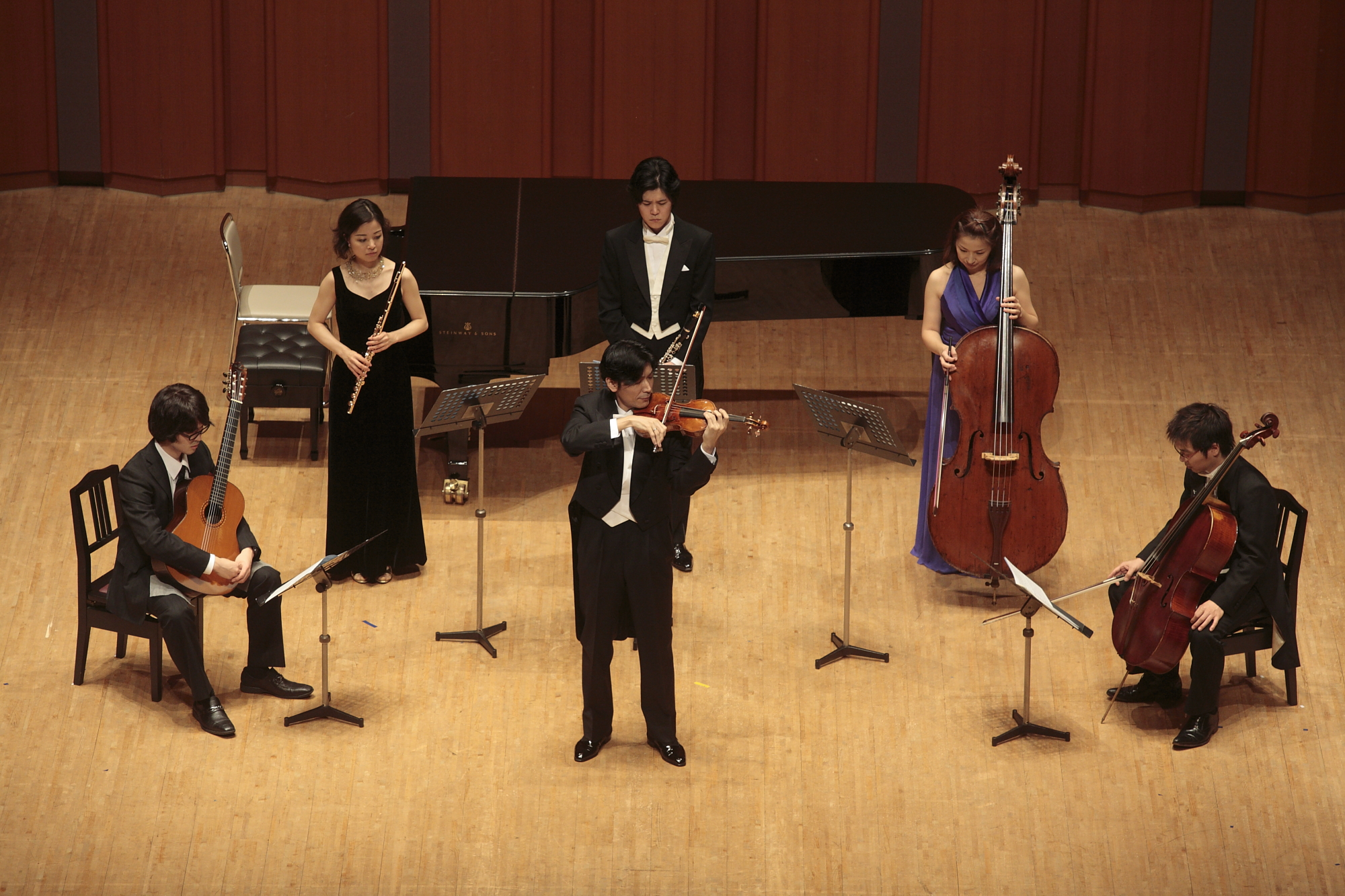 """Eijin Nimura (violin) and friends performing WYLN's """"Visas for Life"""""""